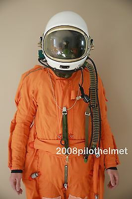 Spacesuit Flight Pilot Helmet Air Force Astronaut High Attitude  Flight Suit XXL