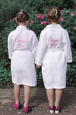 personalizzato per bambini Waffle Vestaglia, matrimonio, Damigella d' ONORE