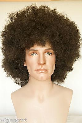 Fun Wigs For Men (Dark Brown Brunette Long Curly Fun Color Wigs Men)