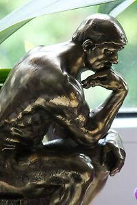 der denker,rodin,24cm,skulptur,figur,replikat,bronziert,auguste rodin,deko,