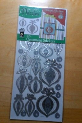 Hot Off The Press Dazzles 3-D Ornament Stickers Christmas Holiday