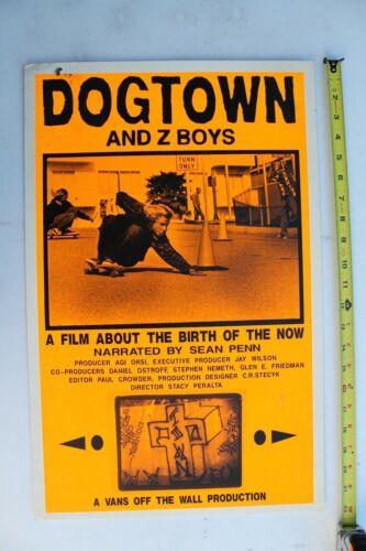 Dogtown and Z-Boys Jay Adams Zephyr Neon Orange OG Vintage Skateboarding POSTER