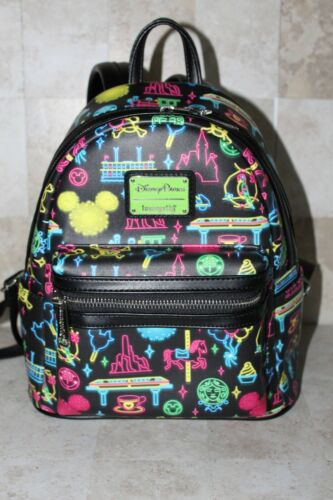 Loungefly Disney Neon Park Life Icon Mini Backpack Rare