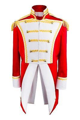 Uniform Fasching Soldat Napoleon Jacke Karnevalskostüm Party Gehrock Rot Weiß G