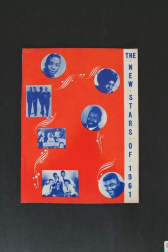 Vintage ORIGINAL Concert Program The New Stars of 1961 The Coasters, The Marcels