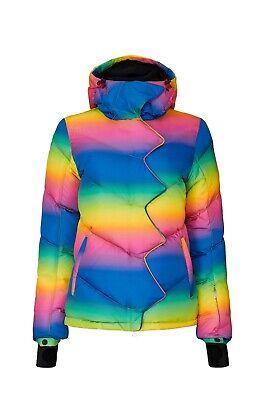 Perfect Moment Rainbow Chevron Super Day Jacket Coat Ski Sz Medium