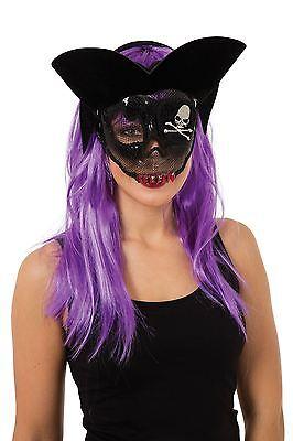Transparent Zuckerschädel-Piraten-Maske, Abendkleid-Partei-Kostüm-Zusatz #DE