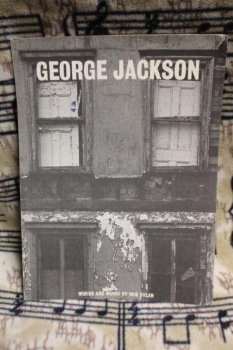 BOB DYLAN 1971 George Jackson SHEET MUSIC 4 Pages FOLK Old PROTEST Rare VINTAGE
