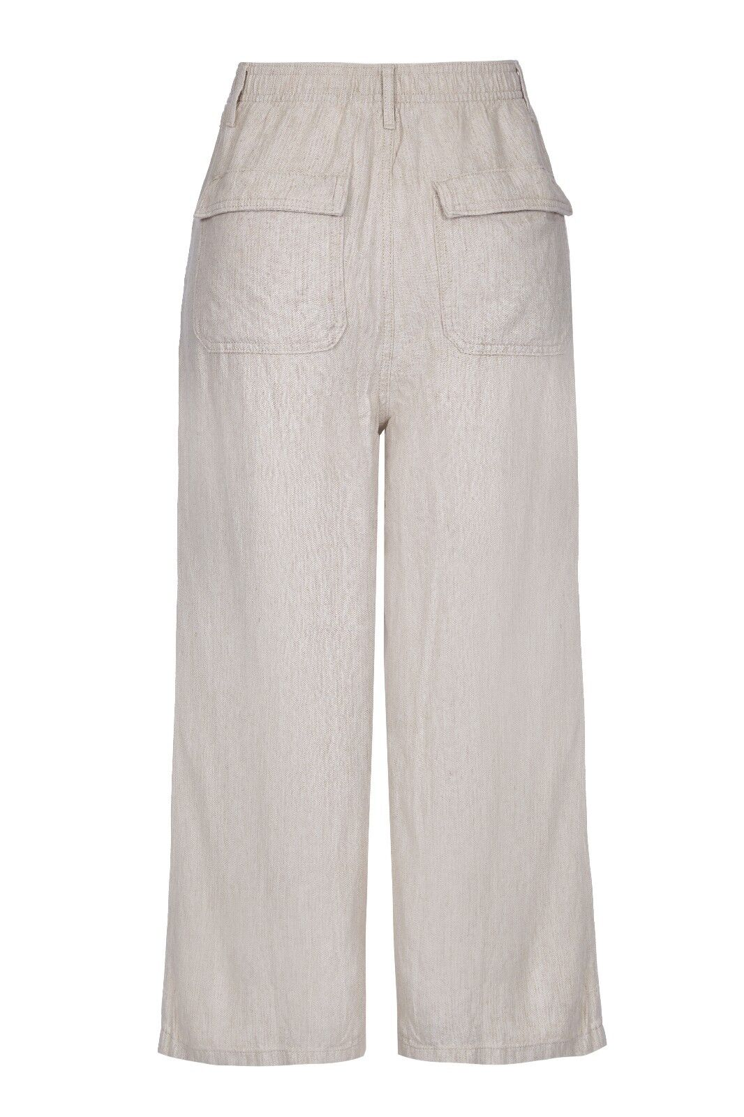 W2.6 Ex M*S Linen Blend Pleated Cropped Culottes in Grey and Denim
