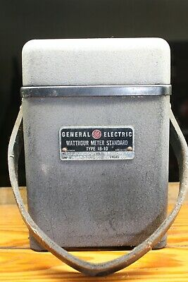 General Electric Type 1b-10 Portable Watthour Meter Standard Test Unit Ge