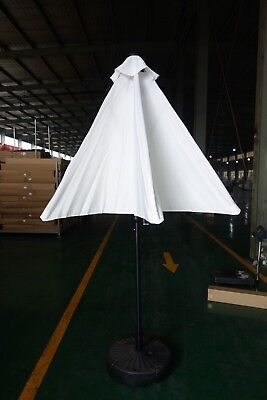 Outdoor Umbrella Patio Market White 9FT