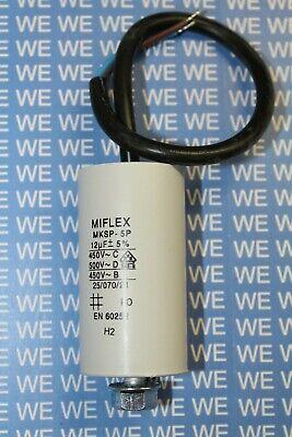 MIFLEX Motorkondensator 1µF-20µF 450V (Anlaufkondensator / Betriebskondensator)