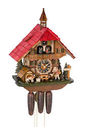 Hönes original cuckoo clock black forest 8 day music bell tower hiker