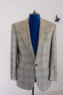 Versace V2 Sport Coat Blazer Silk And Wool Made In Switzerland Size US 42R