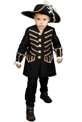 Coole Pirat Jacke Kostüm Kinder Jungen Piratenkostüm Karneval - Kinder Piraten