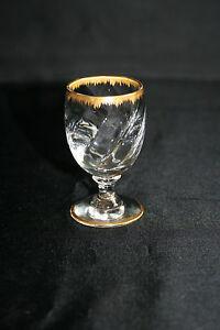 verre liqueur en cristal torsad avec bord et pied dor ebay. Black Bedroom Furniture Sets. Home Design Ideas