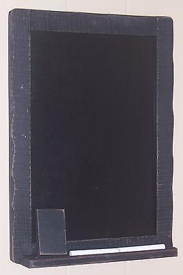 "Classic Black Chalkboard with Eraser, Chalk & Chalk Shelf, 11"" x14.5"" Wood Frame"
