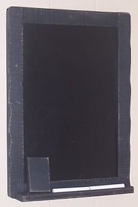 Classic Black Chalkboard with Eraser, Chalk & Chalk Shelf, 11