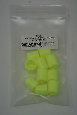 New 10pcs Brown Aviation Tool Supply 1006 316 Yellow Snap Soc Rivet Set Caps