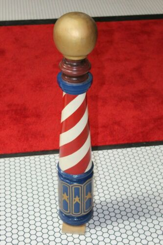 Early 1900s Barber Shop Wood Barber Pole