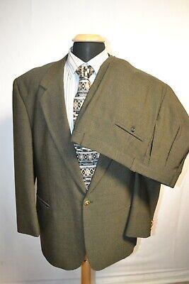 Versace Classic V2 Men's Olive 1 Front Metal Button Suit Sz 46R Wst 38x29