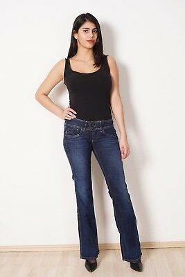 PEPE JEANS Pimlico Damen Hose Schlag Bootcut Stretch Low Waist Flare Alle Größen Low Stretch Bootcut Jeans