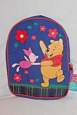 "NEW WITH TAG WINNIE THE POOH  9"" X12"" DISNEY BLUE BACKPACK"