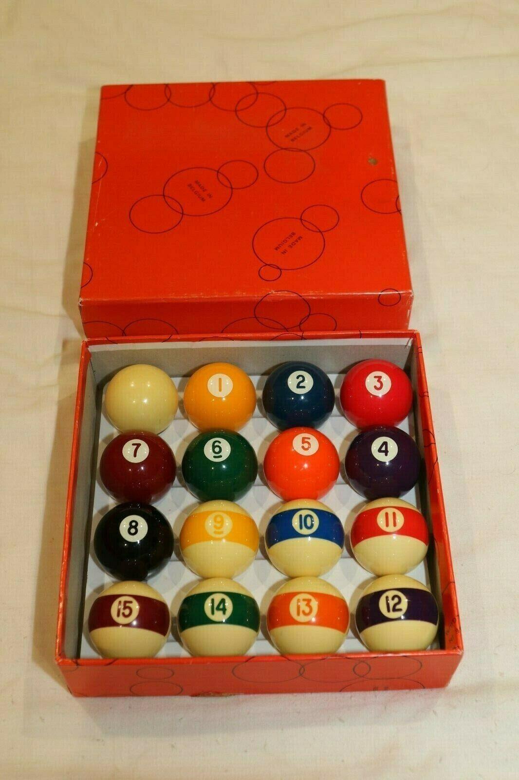 Belgian Aramith Spots and Stripes American 1 7/8 Inch Pool Balls Set