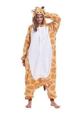 Christmas Unisex Adult Pajamas Animal Kigurumi Cosplay Costume Giraffe Sleepwear (Giraffe Costume Adult)