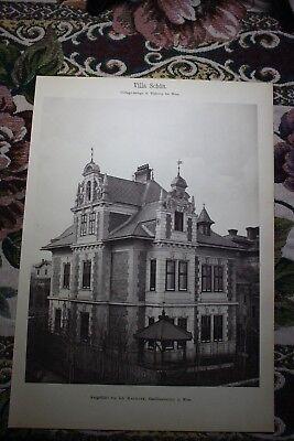 1886  4 / Villa Schön in Währing bei Wien / Architekt Matasek
