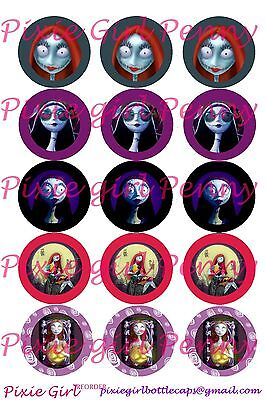 Nightmare Before Christmas Sally Skellington 15 Bottle Cap Images Cup Cake Toppe