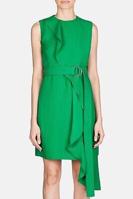 Calvin Klein 205W39NYC Ruffle Tie Dress Spring Green Size 10 NWT$2495