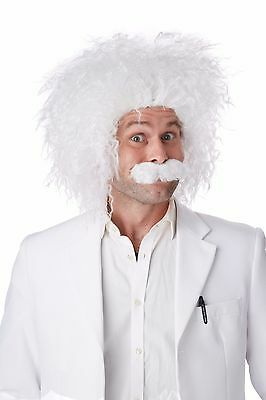 Adult Albert Einstein E=MC2 Costume Wig & Moustache
