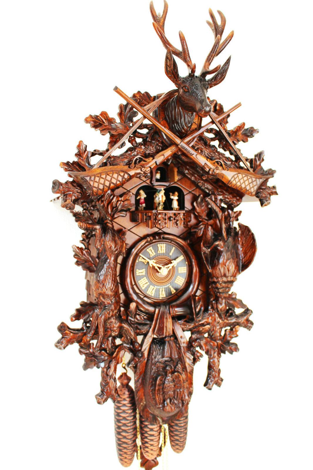 Cuckoo clock black forest 8 day music german wood hunter How to make a cuckoo clock