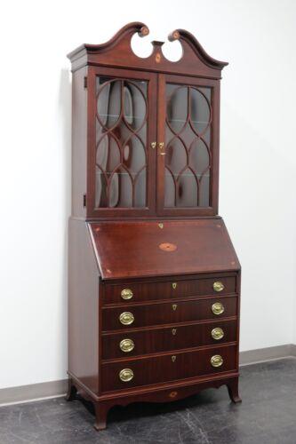 Traditional Georgian Style Mahogany Secretary Desk by Jasper Cabinet Co