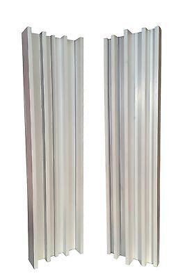 COLUMN SLAT DIFFUSER PAIR (4ft x 1ft) Gloss White