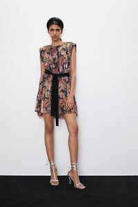 Zara sequinned dress with belt sequin size SMALL new tags SOLD OUT
