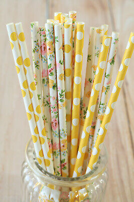 Straws 25pc multi pack shabby chic wedding party supplies (Shabby Chic Party Supplies)