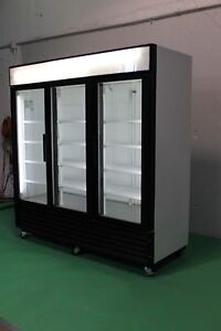 TRUE THREE GLASS DOOR COOLERS ( GDM72 ) AND FREEZERS ( GDM72F )