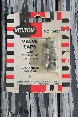 Vintage nos Tire valve metal caps tool auto accessory gm street hot rod parts