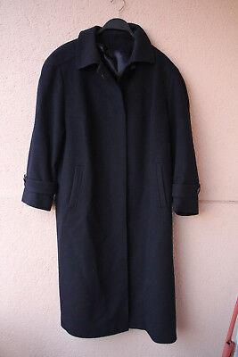 Langer, schwarzer Wollmantel von Delmod, Gr. 22 (Chic/Abendgarderobe) Langer Schwarzer Wollmantel