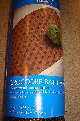 NEW Essential Home Crocodile Textured Bath Mat New 28.5
