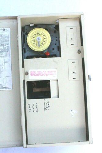 INTERMATIC T21004R 60AMP 120/240V TYPE 3R POOL TIMER
