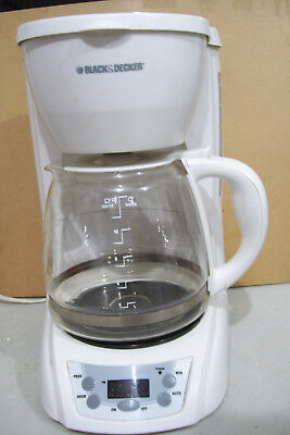 Black & Decker White12-Cup Coffee Maker Deluxe 12 Cup Coffee Maker