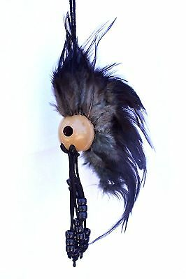 "1"" Kamani Nut Ikaika Hawaiian Hawaii Warrior Helmet Car Decor ~ Black ( QTY 2 )"