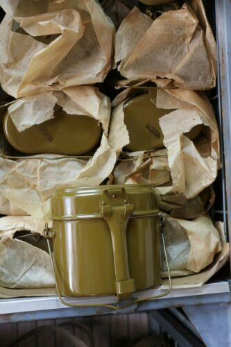 VTG Russian Army Mess Kit USSR Military Lunch Box Canteen Pot Kettle Soviet 1986