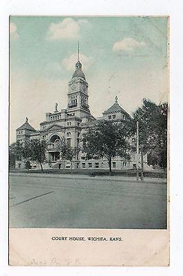 DB Postcard,Court House,Wichita,Kansas,1909