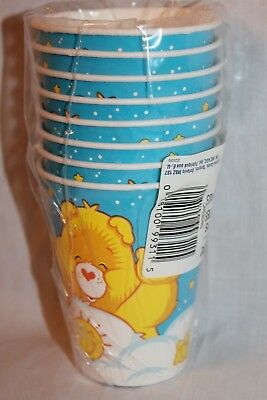Care Bear Party Supplies (NEW  IN PACKAGE CARE BEARS 8 CUPS PARTY SUPPLIES  )