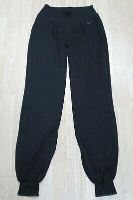 NIKE DRI FIT YOGA HAREM CUFF LOOSE BLACK PANTS LEGGINGS BOTTOMS XS X SMALL 6 8