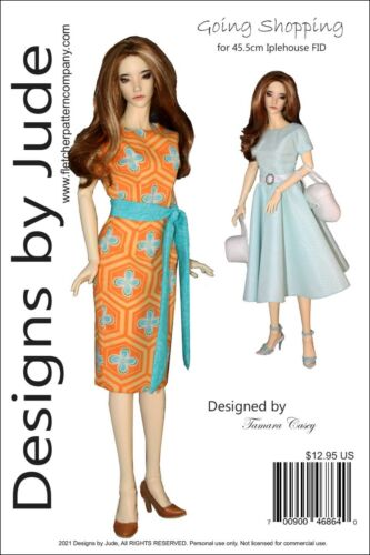 Going Shopping Doll Clothes Sewing Pattern for 45.5cm Iplehouse FID Dolls
